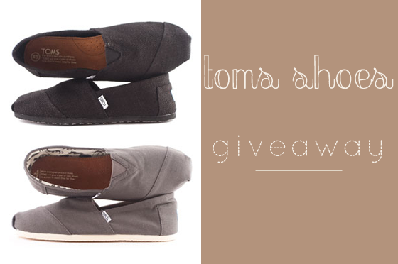 So I Decided To Do Another Giveaway This Month A Toms Shoes Who Knows Maybe Diffe Organization Time It S For