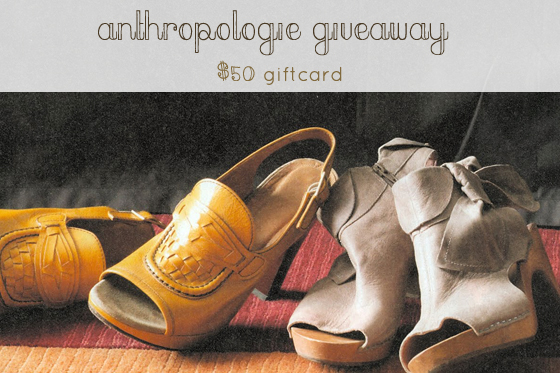 anthropologie giveaway!