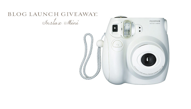Blog Launch: Instax Camera Giveaway- CLOSED